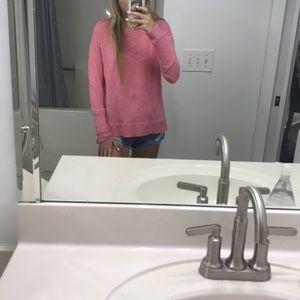 J Crew XXS pink crewneck sweater